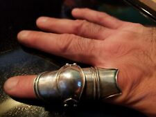 Vintage Finger Armor Ring 925 Sterling Silver Angelina Jolie Hackers sz 13