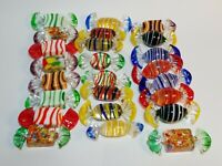 Set of 24 Blown Art Glass Candies Lot Wrapped Candy Sweets Easter Decorations