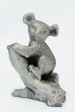 """Rawcliffe Pewter Koala Bear on Tree Branch Figurine 2-1/4"""""""