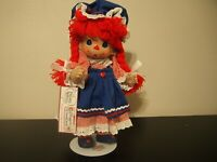 """Precious Moments Raggedy Ann Collectible Doll with Stand 12"""" with Tag"""