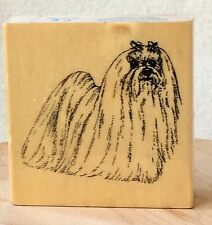 Rubber Stamp Maltese Dog by Stamp Gallery Bow