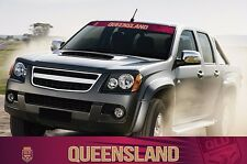 620398 QUEENSLAND - STATE OF ORIGIN COLOUR VISOR BLOCK OUT DECAL CAR SOO QLD