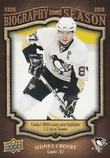 PITTSBURGH PENGUINS SIDNEY CROSBY 2009-10 UPPER DECK BIOGRAPHY OF A SEASON #BOS6