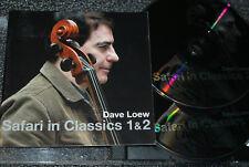 DAVE LOEW * TRIPLE SIGNED * SAFARI IN CLASSICS 1 & 2 CD ALBUM  - AUTOGRAPHED