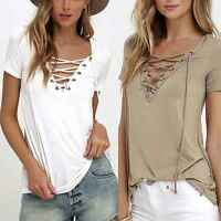 NEW Women Loose Pullover T Shirt Short Sleeve Tops Shirt Blouse Plus Size S-3XL