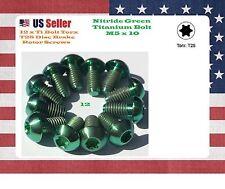12 X Ti titanium Bolts Nitride Green Torx T25 M5x10 disc brake rotor Bolts GR5