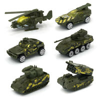 6Pcs Army Toy Cars Hot Wheels Diecast Model Cars Mini Alloy Military Battle Cars