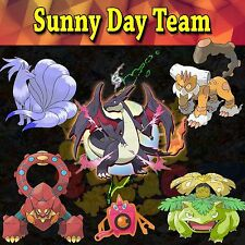 Ultra Pokemon Sun and Moon Sunny Day Team 6IV-EV Trained