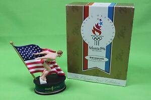 1992 Hallmark Centennial Olympic Games 1996 Atlanta Swimming Figurine NIB Statue