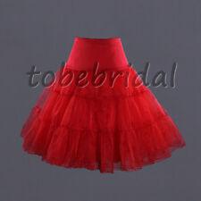 """Retro Underskirt 50s Swing Vintage Petticoat Net Skirt Rockabilly, 26"""" Long Tutu"""