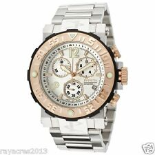 Invicta Men's 10587 Reserve Chronograph White Textured Dial Stainless Steel