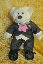 """Bear Factory ~ WEDDING GROOM TEDDY BEAR ~ 15"""" Soft Plush Toy"""