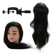 60cm Hair Training Head Model  Hairdressing Clamp Stand Dummy Practice Mannequin