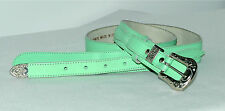 Ceinture verte croûte de cuir vachette Style western Taille 38 Très bon état