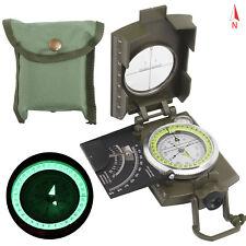BW Bundeswehr Armeekompass mit Etui oliv, Kompass Metallgehäuse Marsch neu