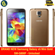 New Samsung Galaxy s5 Mini SM-G800F 4G LTE 16GB Gold Unlocked Android Smartphone