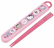 Dishwasher corresponding sliding chopsticks chopstick case set 16.5cm Hello Kitt