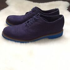 Cole Haan Air Harrison Mens 10.5 Dark Blue Suede/wool Oxford Shoes C10773