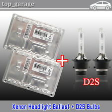 2x 6000K D2S Bulbs + 4 PIN Xenon HID Ballasts Valeo LAD5GL For VW Audi Volvo