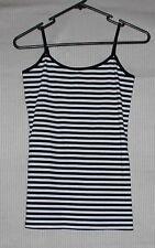 Jay Jays womens tank top cami black white stripes SIZE S