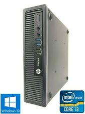 HP EliteDesk 800 G1 USDT - 500GB HDD, Intel Core i3-4130 8GB RAM - Win 10 Pro