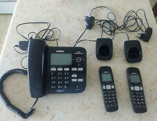 Uniden DECT1688-2 Corded Speakerphone &Answering Machine + 2 Cordless Extensions