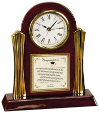 Graduation Gift from Parents to Graduate Desk Engraved Clock College CFP-PC