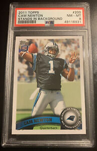 Can Newton 2011 Topps Stands In Background #200 Psa 8 Rookie Rc Patriots 🔥🔥