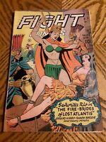 Fight Comics #43 (1946) Matt Baker Art Bondage Cover Egyptian Golden Age Comics
