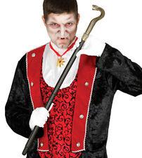 Snake Head Walking Cane Staff Stick vampire fancy dress Steampunk COBRA GOLD