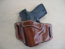 Beretta Nano 9mm OWB Leather 2 Slot Molded Pancake Belt Holster CCW TAN LEFT H