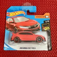 Hot Wheels 2018 HONDA Civic Type R Mattel Red Color Car Toy Brand NEW