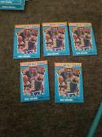 1990-91 Fleer All Star Insert #7 Karl Malone Utah Jazz Mint (5 card lot) Nm-m
