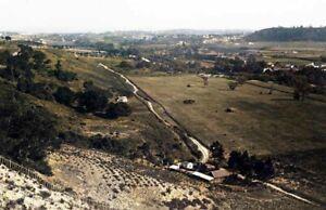"""1883 Aerial View of Santa Cruz, California Old Photo 11"""" x 17"""" Reprint Colorized"""