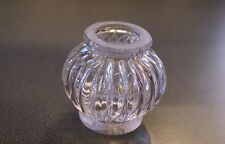MOULDED Glass Reeded Ball Stem Piece