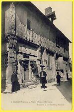 cpa 18 - AUBIGNY (Cher) Vieille Maison VANNERIE Rue du BOURG COUTANT Animée