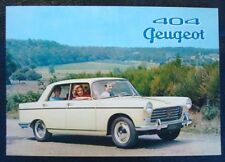 PEUGEOT 404 Car Sales Brochure 1960
