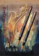 """Repro vintage giapponese Pubblicità Print # 32 circa 1937 """"PILOT penna stilografica"""""""