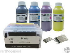 Refillable Cartridges for HP 950 951 XL OfficeJet Pro 8600 8610 8615 +4x250ml