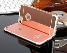 MIRROR Case Apple iPhone 4 5 5S  6 6S 7 Plus Slim Reflection Premium + GLASS