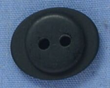 15mm Black Oval 2 Hole Button