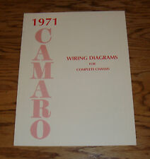 1971 Chevrolet Camaro Wiring Diagram Manual for Complete Chassis 71 Chevy
