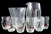 Loetz Witwe Koloman Moser Crackle Crocodil Jugendstil Limonadenset Krug 6 Gläser