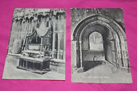 Two Vintage Valentine's Series Westminster Abbey Post Cards London England