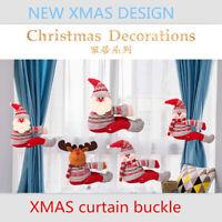 Cute Santa Claus Doll Curtain Buckle Window Decoration Christmas Gift Home Decor