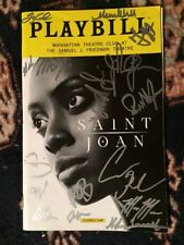 Condola Rashad And The Complete Broadway Cast Signed Saint Joan Playbill