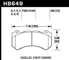 Disc Brake Pad Set-Pursuit Front Hawk Perf HB649Z.605