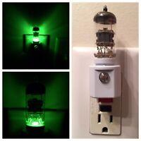 12AX7 Style Vacuum Tube Green LED Night Light Ham Radio TV Guitar Amplifier