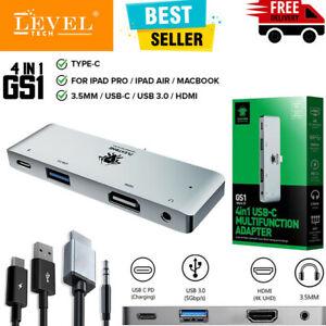 4in1 Multi-Port Adapter Type-C To USB-C HUB 4K HDMI USB Audio 3.55mm iPad Mac