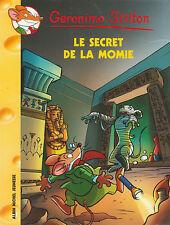GERONIMO STILTON N°44 Le secret de la Momie  livre jeunesse